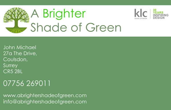 Brighter Shade Business Card Design