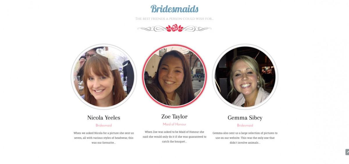 wedding website surrey