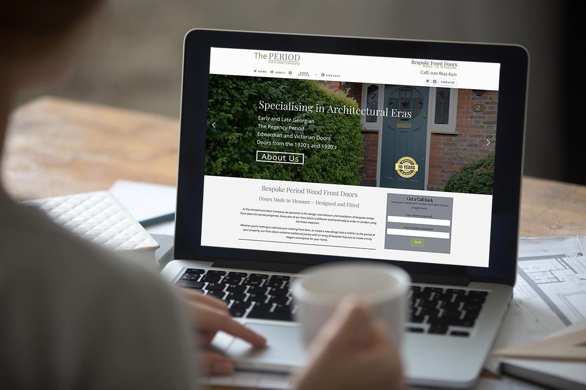 The Period Front Door Company Website Design By Vwd Surrey